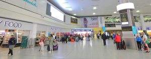 mat dryck gatwick panorama 300x118 - London England - May 31, 2019: Unidentified People Travel At Gatwick Airport London England.