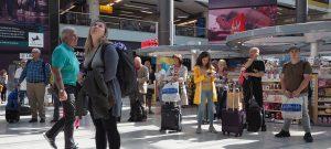 shopping london gatwick panorama 300x135 - Gatwick, Uk - Circa September 2019: People At London Gatwick Airport